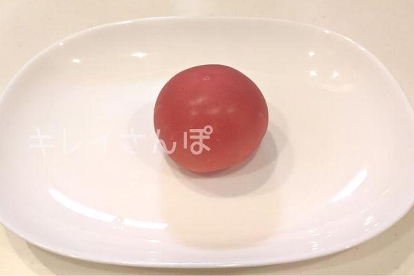 冷凍トマト作り方1