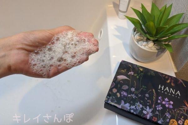 【HANAオーガニック】トライアルレビュー!ピュアリクレイの泡立ち検証5